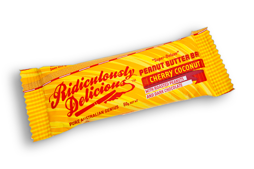 Ridiculously Delicious Peanut Butter Bar - Cherry Coconut